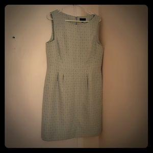 Mint-green and white, jacquard print, Tahari dress